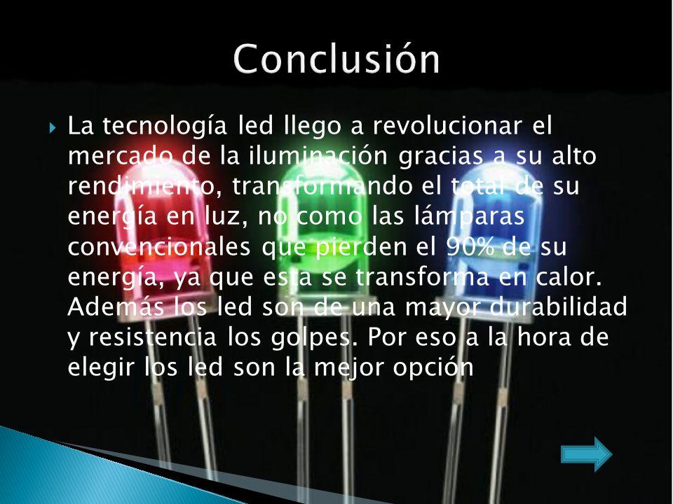 La tecnología led llego a revolucionar el mercado de la iluminación gracias a su alto rendimiento, transformando el total de su energía en luz, no como las lámparas convencionales que pierden el 90% de su energía, ya que esta se transforma en calor.