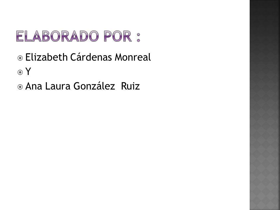 Elizabeth Cárdenas Monreal Y Ana Laura González Ruiz