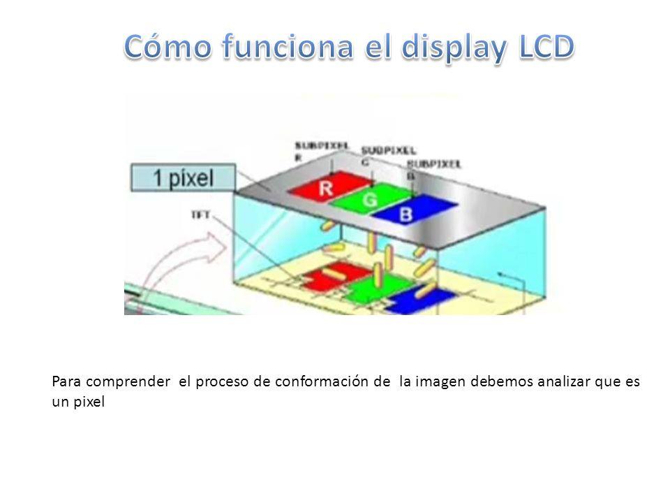 Para comprender el proceso de conformación de la imagen debemos analizar que es un pixel