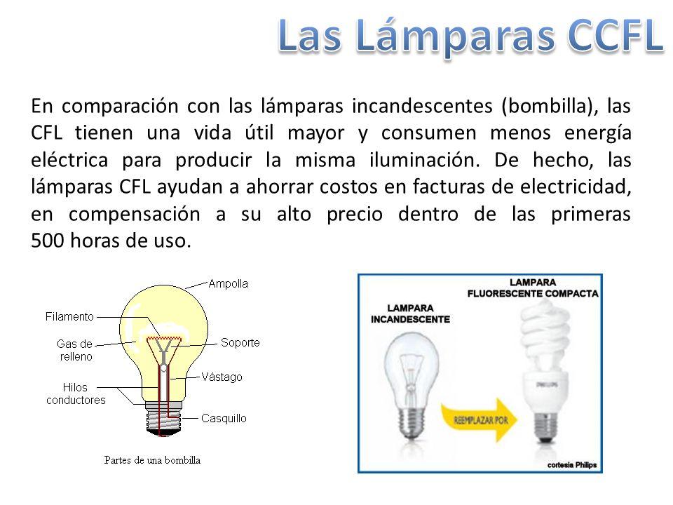 La lámpara de luz fluorescente de cátodo frío (CCFL, por sus siglas en inglés Cold Cathode Fluorescent Lamp) es una de las formas más nuevas de CFL.