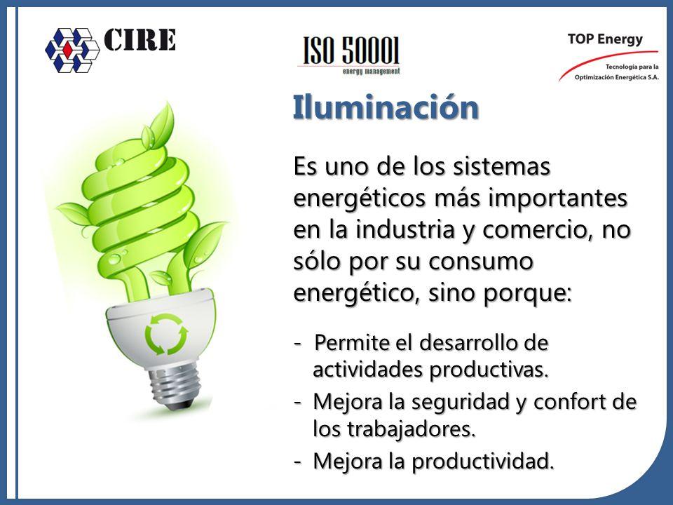 Es uno de los sistemas energéticos más importantes en la industria y comercio, no sólo por su consumo energético, sino porque: - Permite el desarrollo