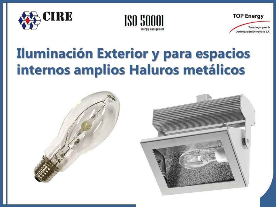 Iluminación Exterior y para espacios internos amplios Haluros metálicos