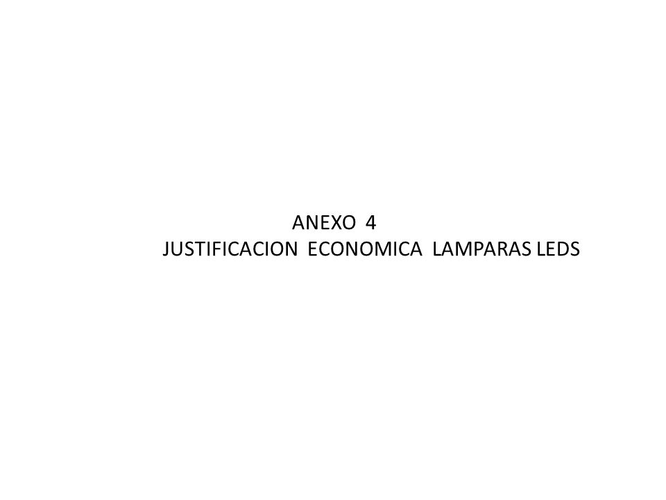 LUMINARIAS LED Consumo de energía en $MX anual total