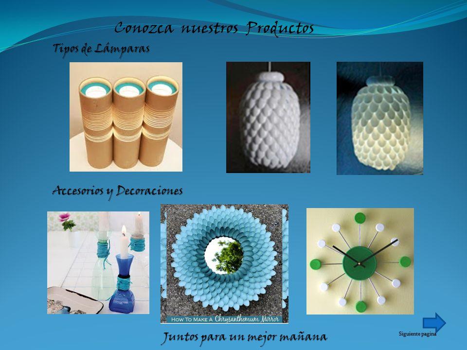 Conozca nuestros Productos Tipos de Lámparas Accesorios y Decoraciones Juntos para un mejor mañana Siguiente pagina