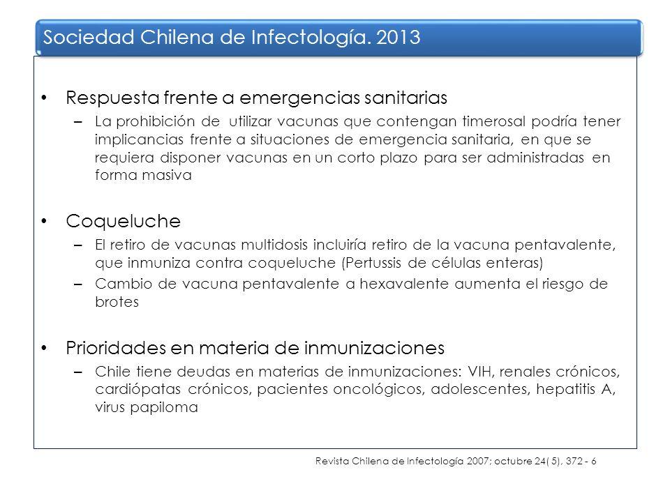 Respuesta frente a emergencias sanitarias – La prohibición de utilizar vacunas que contengan timerosal podría tener implicancias frente a situaciones