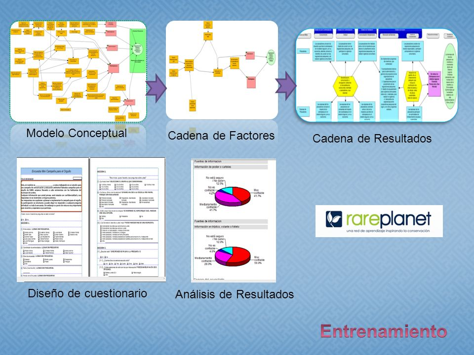 Modelo Conceptual Cadena de Factores Cadena de Resultados Diseño de cuestionario Análisis de Resultados