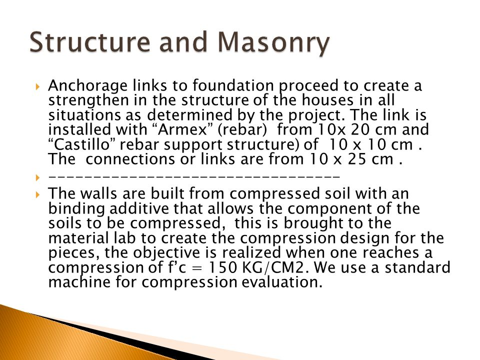 Anchorage links to foundation proceed to create a strengthen in the structure of the houses in all situations as determined by the project. The link i