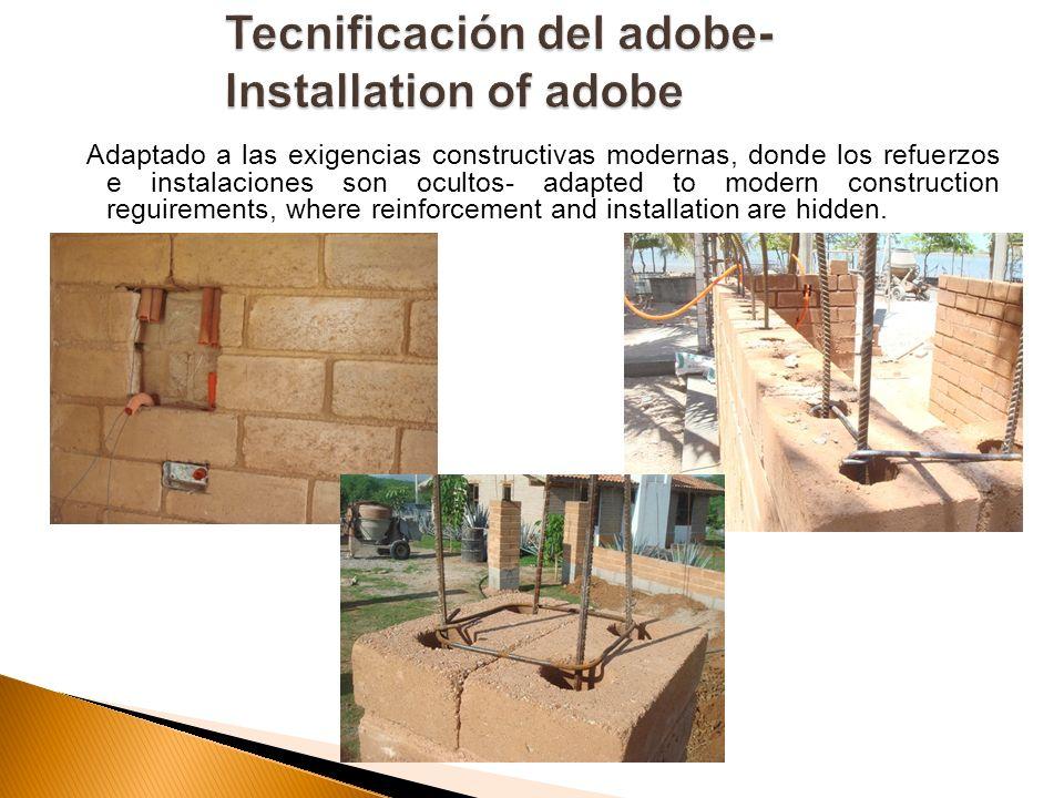 Adaptado a las exigencias constructivas modernas, donde los refuerzos e instalaciones son ocultos- adapted to modern construction reguirements, where