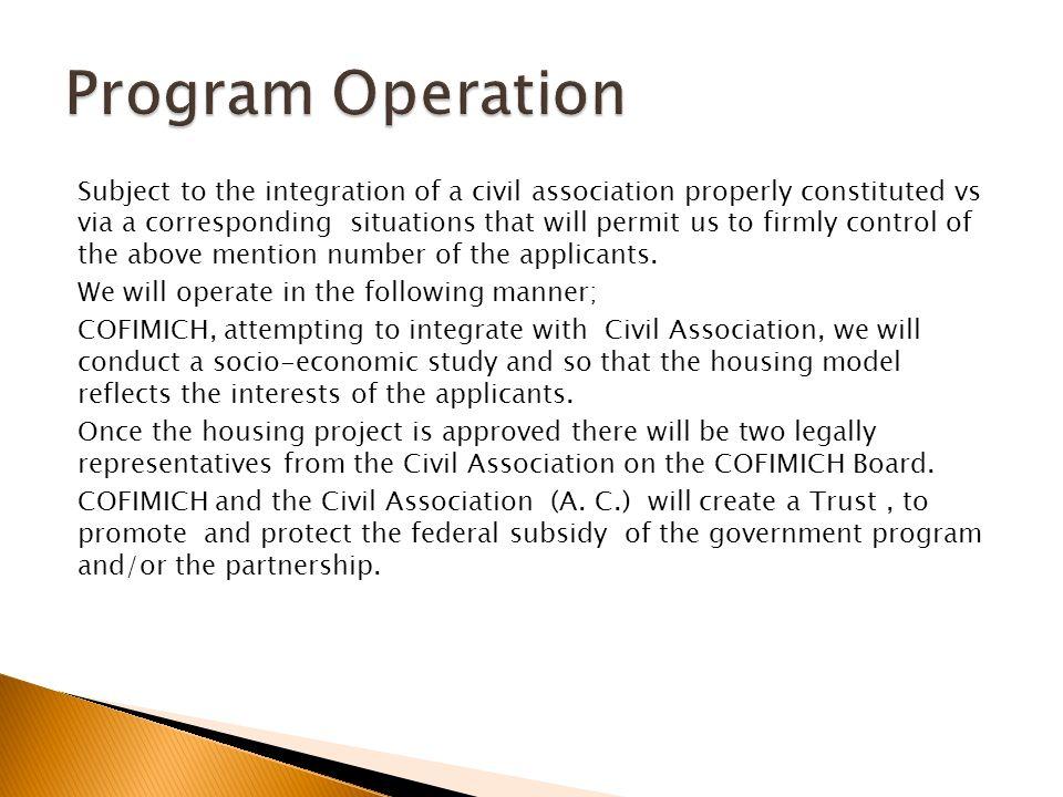 Las cuales podrán subsidiar el fondeo del 80% del proyecto y la A.C.