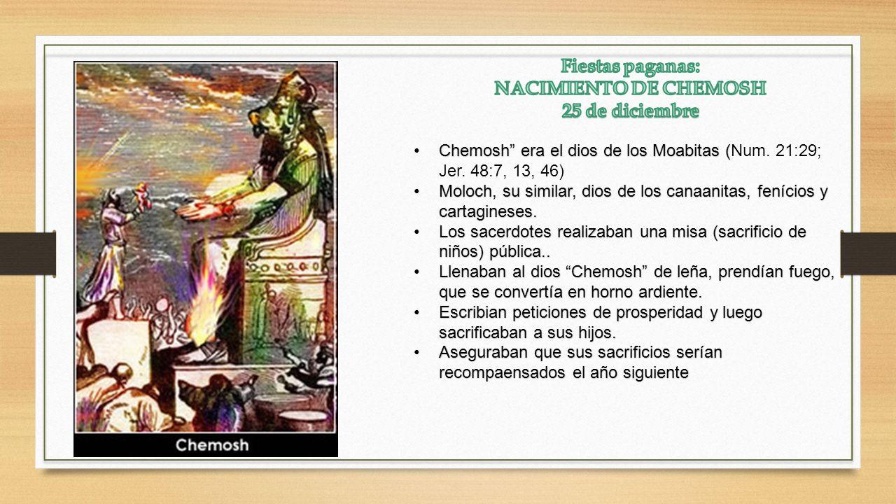Chemosh era el dios de los Moabitas (Chemosh era el dios de los Moabitas (Num.
