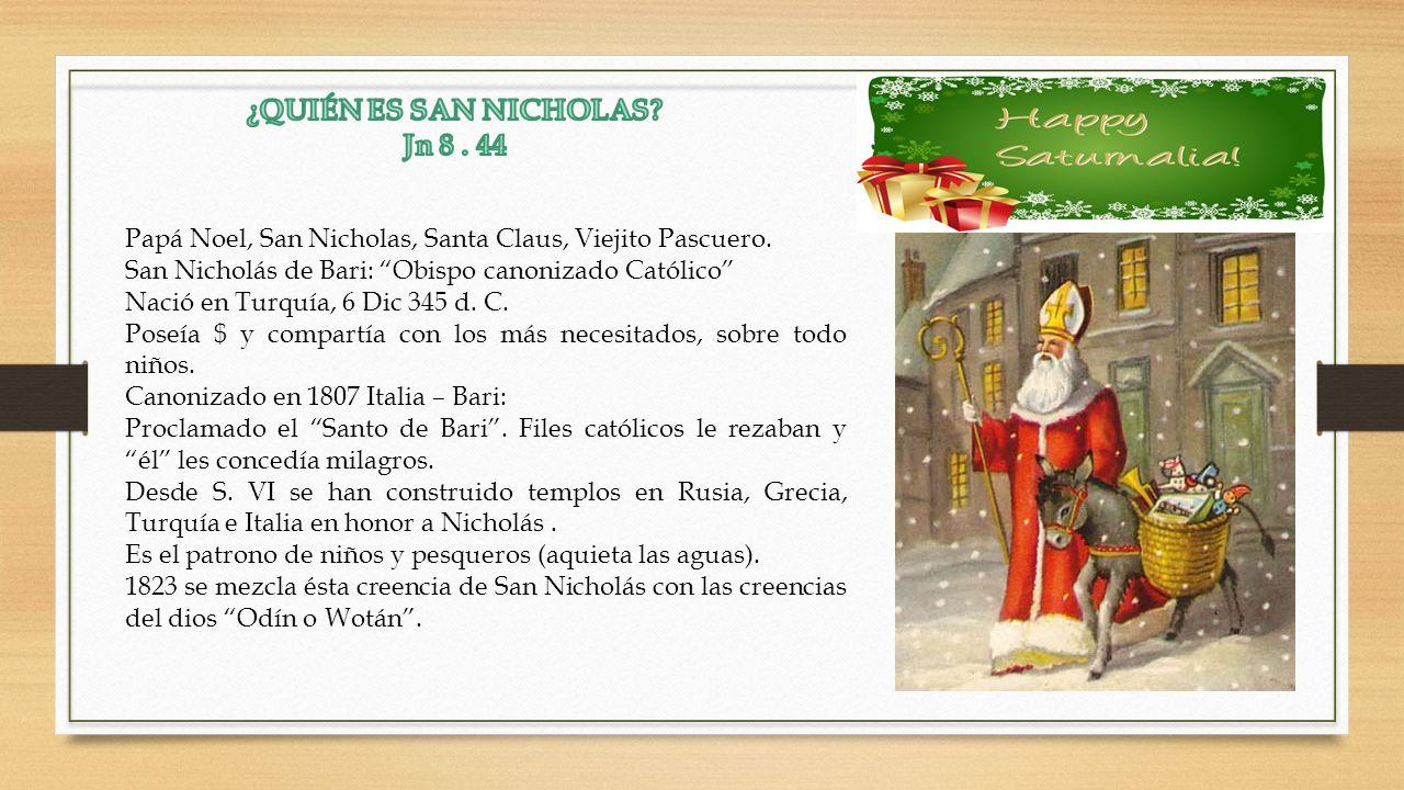 Papá Noel, San Nicholas, Santa Claus, Viejito Pascuero.