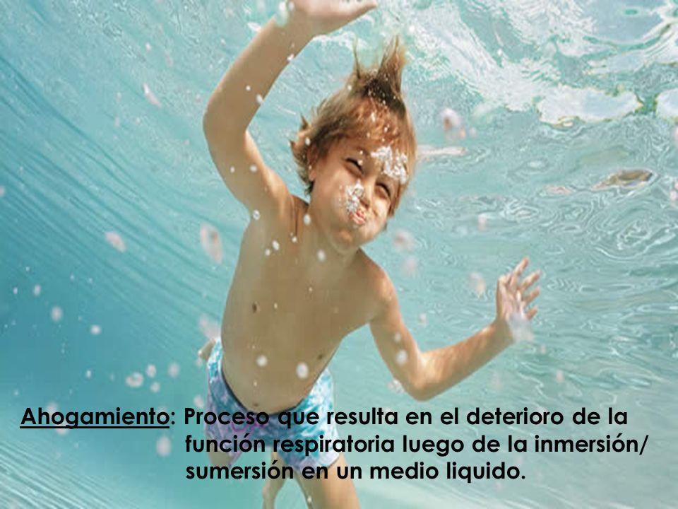 Fisiopatología: VA bajo el agua… Hipoxia Hipercapnia Acidosis Compromiso respiratorio, cardiovascular, cerebral … multisistemico.