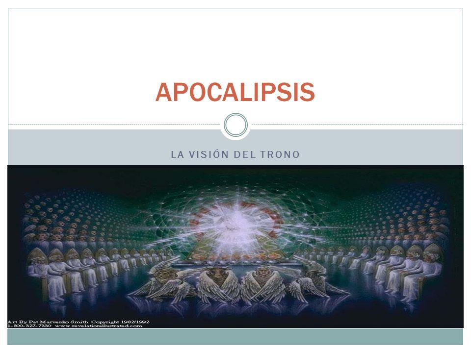 Apocalipsis, 4: 5 Estas lámparas, llamadas también ojos, son los siete espíritus de Dios enviados por toda la tierra (Apocalipsis, 5: 6; Zacarías, 4: 10)