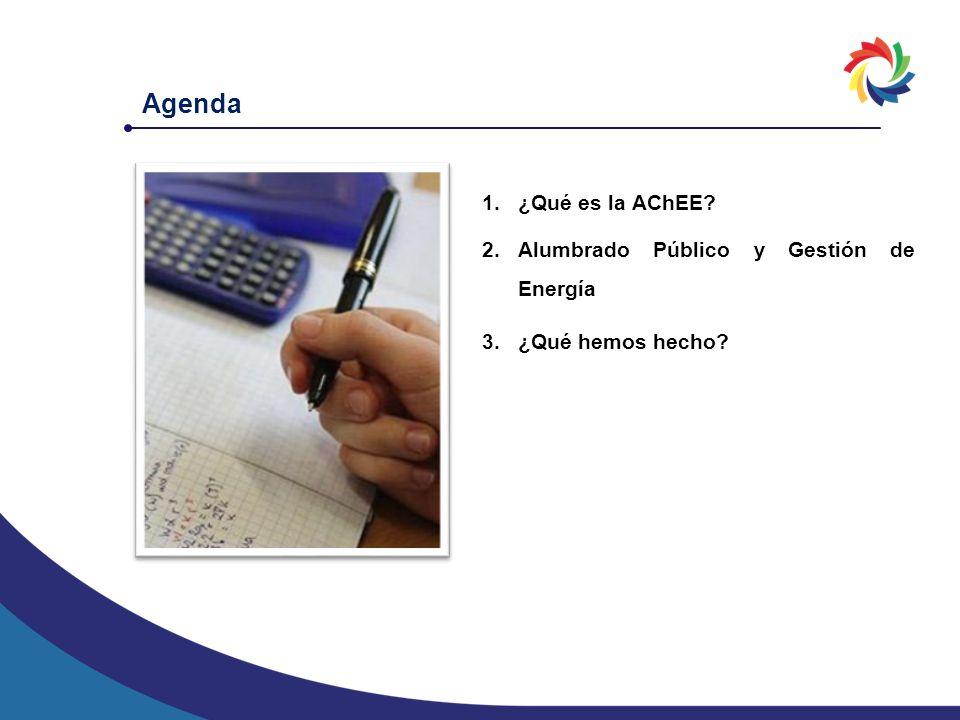 Agenda 1.¿Qué es la AChEE? 2.Alumbrado Público y Gestión de Energía 3.¿Qué hemos hecho?