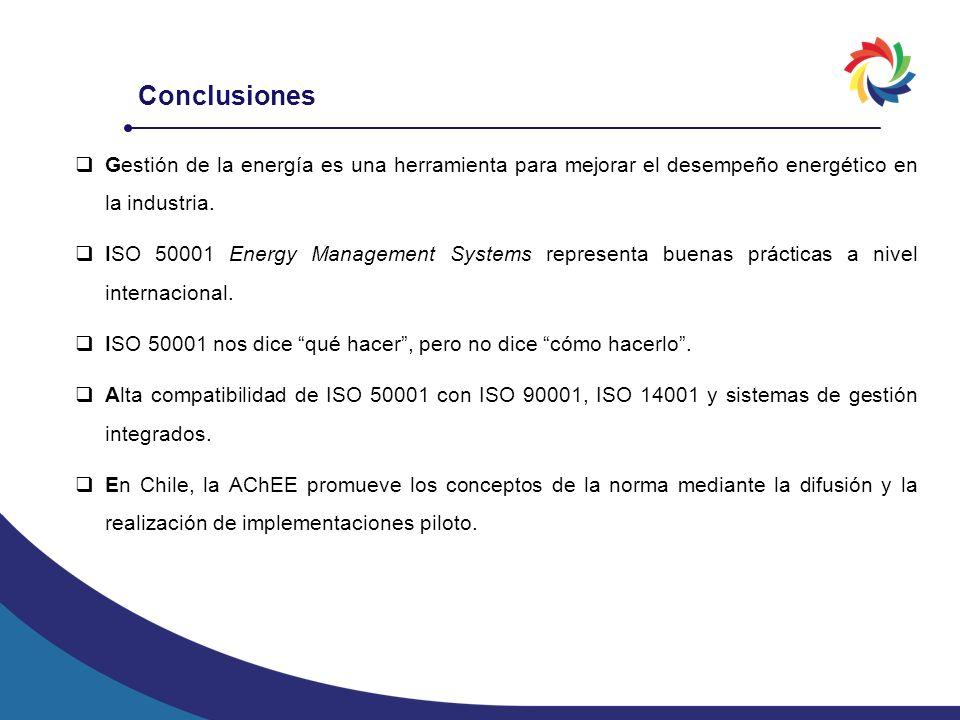 Gestión de la energía es una herramienta para mejorar el desempeño energético en la industria. ISO 50001 Energy Management Systems representa buenas p