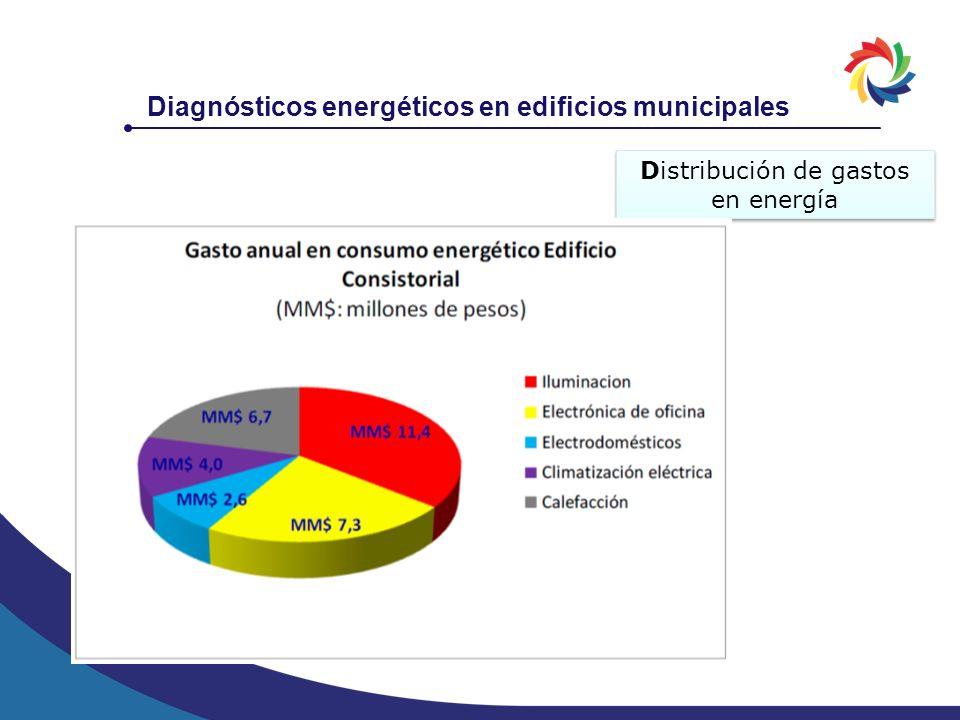 Diagnósticos energéticos en edificios municipales Distribución de gastos en energía
