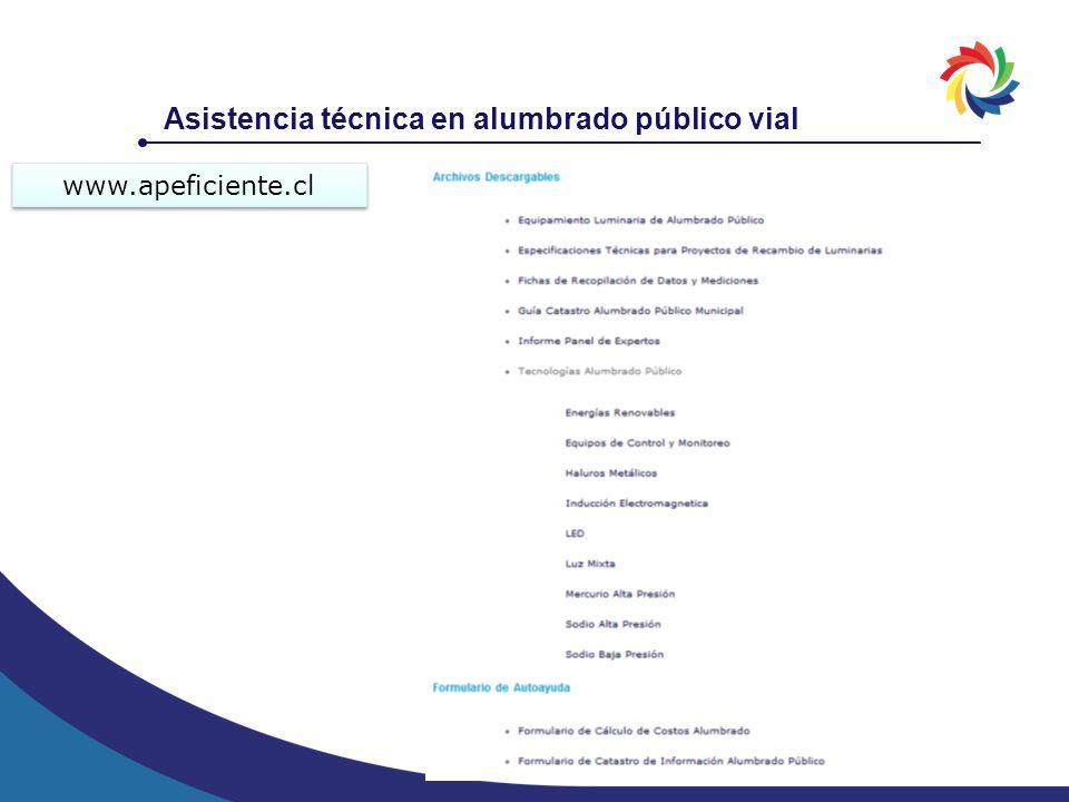 Asistencia técnica en alumbrado público vial www.apeficiente.cl