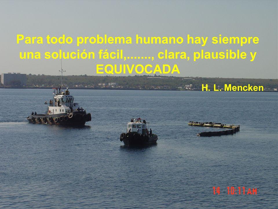 Para todo problema humano hay siempre una solución fácil,......., clara, plausible y EQUIVOCADA H.