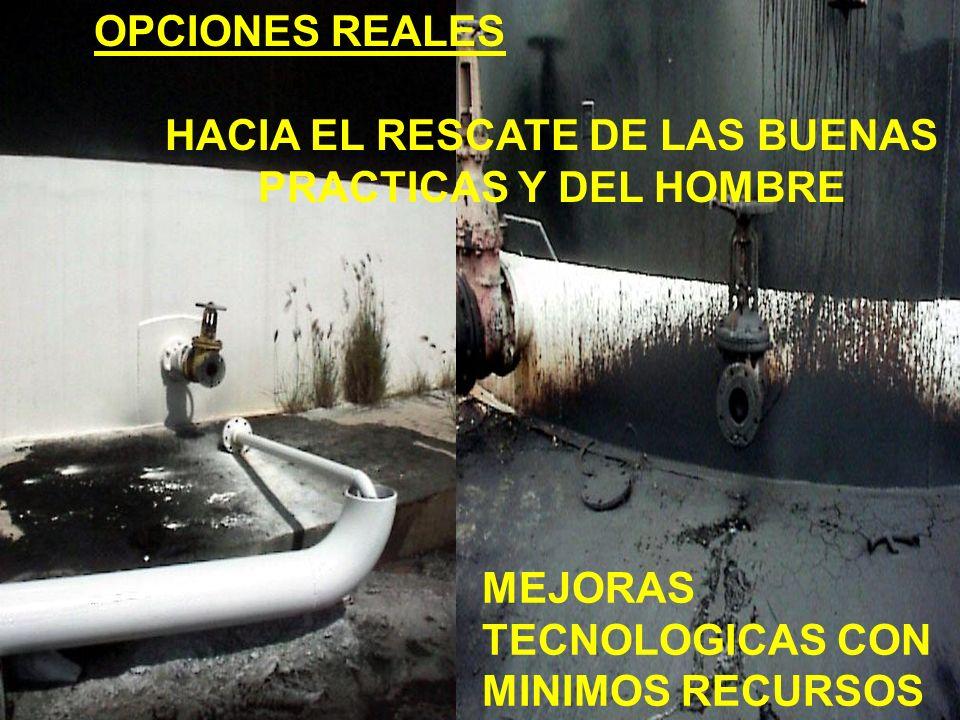 HACIA EL RESCATE DE LAS BUENAS PRACTICAS Y DEL HOMBRE MEJORAS TECNOLOGICAS CON MINIMOS RECURSOS OPCIONES REALES