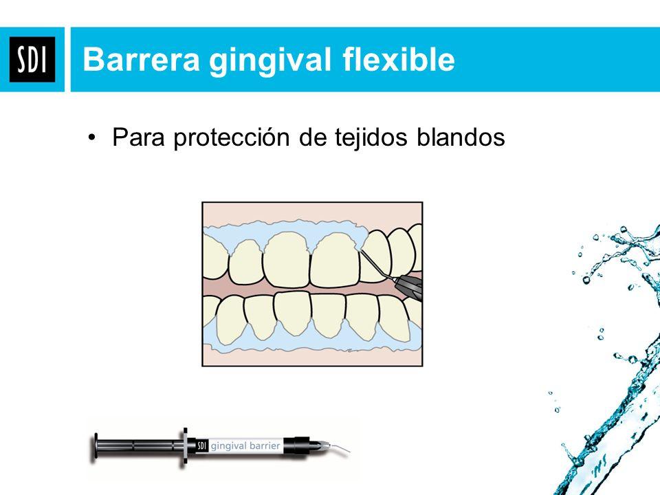 Para protección de tejidos blandos Barrera gingival flexible