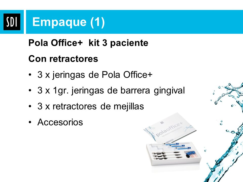 Pola Office+ kit 3 paciente Con retractores 3 x jeringas de Pola Office+ 3 x 1gr. jeringas de barrera gingival 3 x retractores de mejillas Accesorios