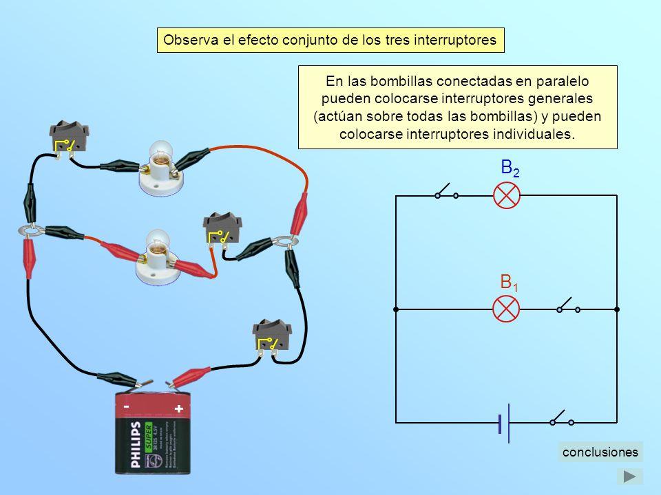 Conexión de bombillas en serie y en paralelo Las bombillas conectadas en serie están encendidas o apagadas todas al mismo tiempo.