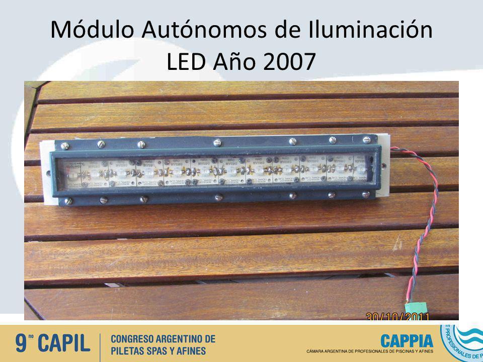 Módulo Autónomos de Iluminación LED Año 2007