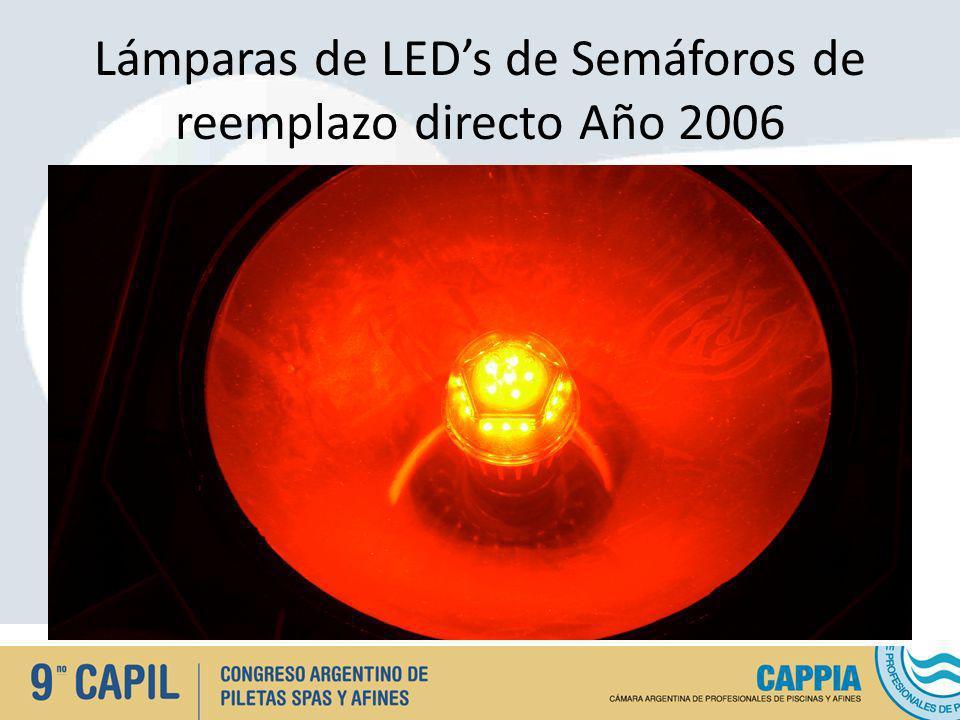 Lámparas de LEDs de Semáforos de reemplazo directo Año 2006
