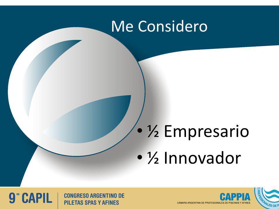 Me Considero ½ Empresario ½ Innovador