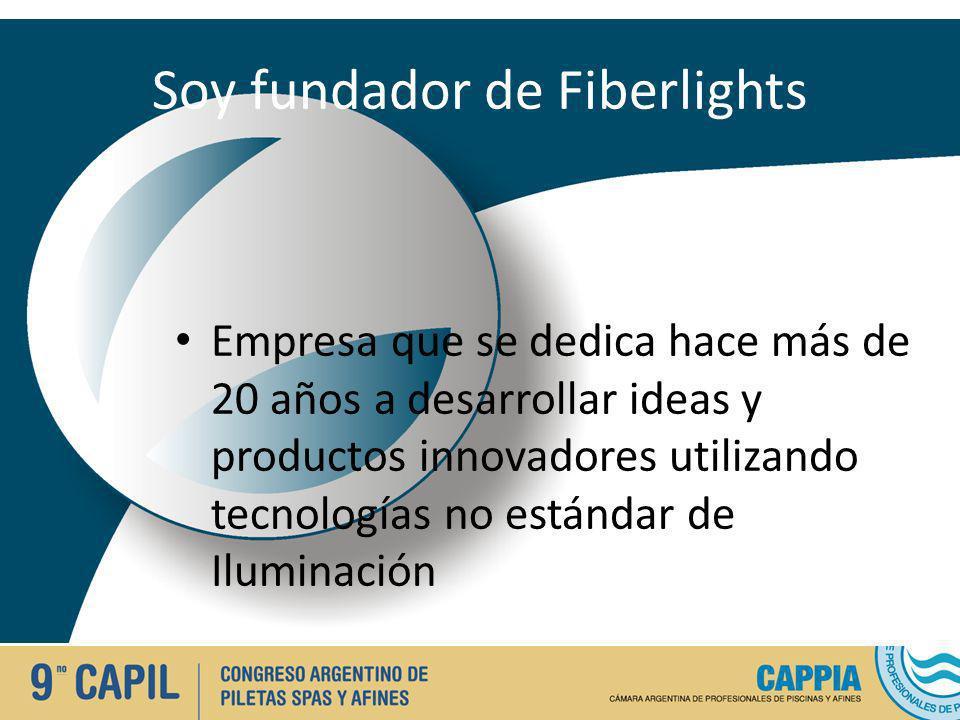 Soy fundador de Fiberlights Empresa que se dedica hace más de 20 años a desarrollar ideas y productos innovadores utilizando tecnologías no estándar de Iluminación