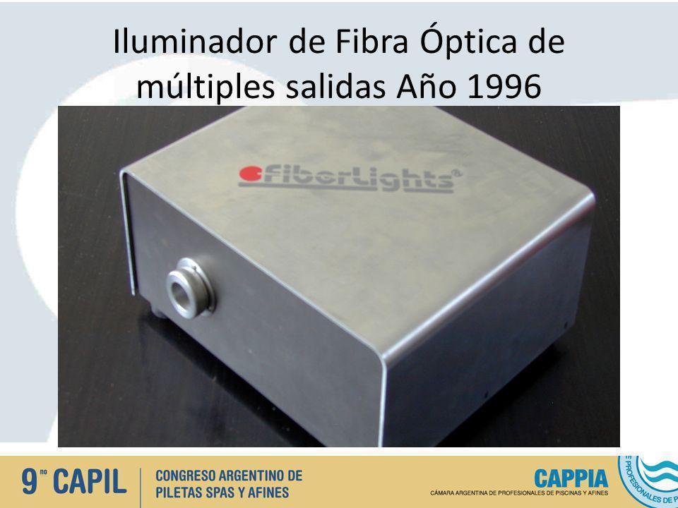 Iluminador de Fibra Óptica de múltiples salidas Año 1996