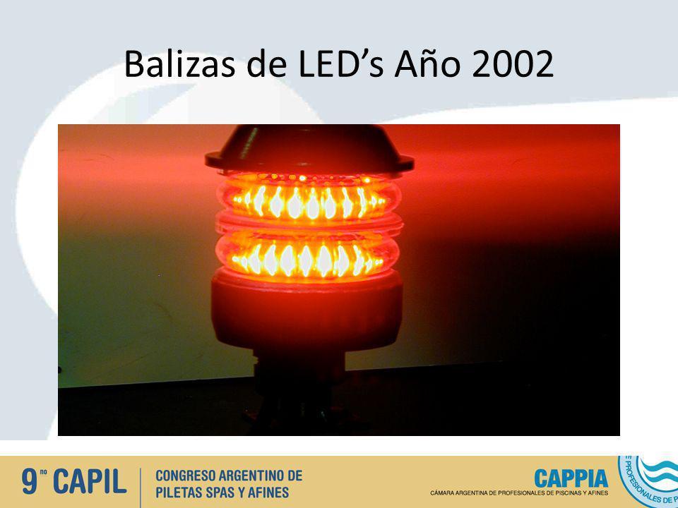 Balizas de LEDs Año 2002