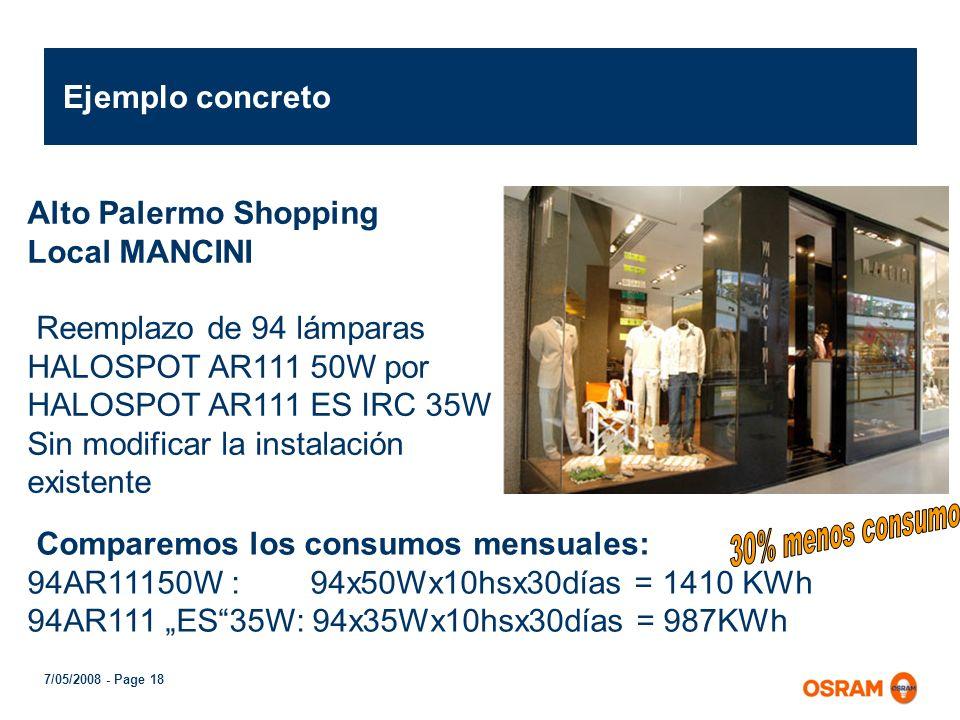 7/05/2008 - Page 17 En comparación con la HALOSPOT ® 111 standard las lámparas HALOSPOT ® 111 IRC tienen como ventajas: 1.) Ahorro de energía 2.) Mejo