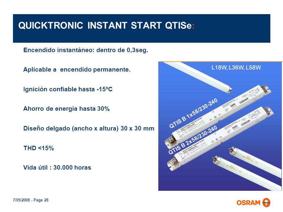 7/05/2008 - Page 27 FLUORTRONIC Para lámparas fluorescentes T8/26mm L18W y L36W ó T10/33mm L20 y L40W Características: La lámpara enciende dentro de 0