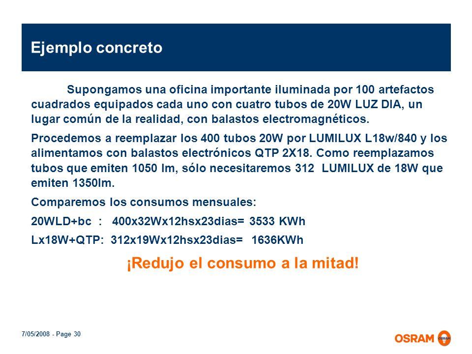 7/05/2008 - Page 29 QTP 2x58/230-240 QTP 1x36/230-240 QUICKTRONIC PROFESIONAL – QTP8 Para lámparas T8 L18W, L36W y L58W Encendido con precalentamiento