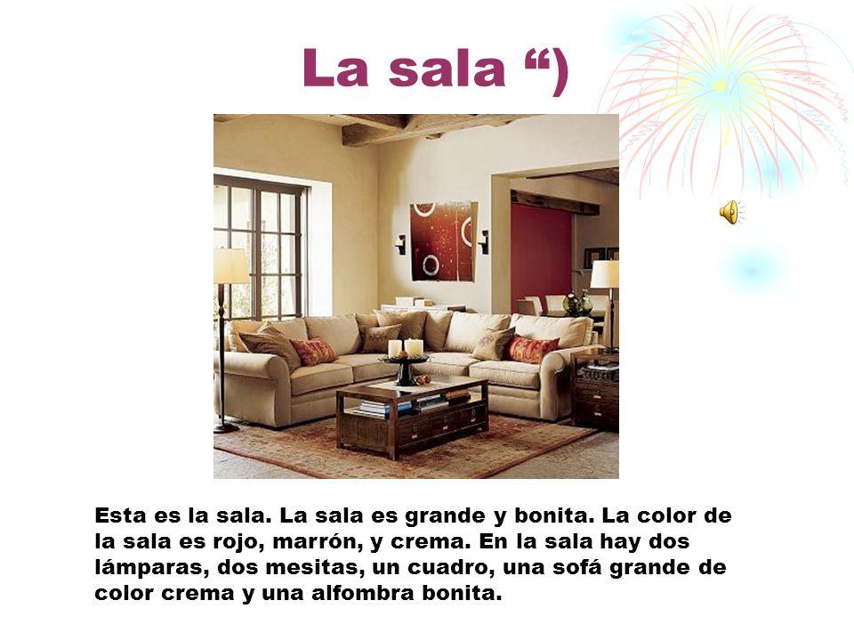 Introducción La casa qué yo quiero vende es muy bonita y grande. Tiene díez cuartos, 2 baños, tres dormitorios, una sala, el comedor, la cocina, el só
