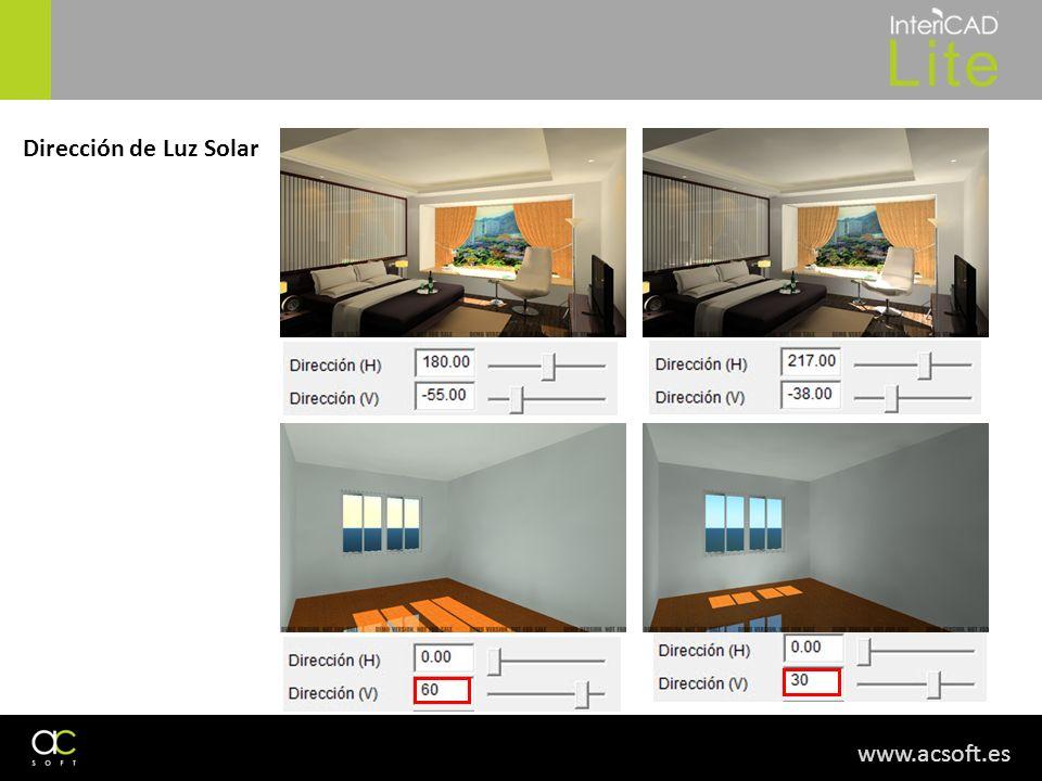 www.acsoft.es Dirección de Luz Solar