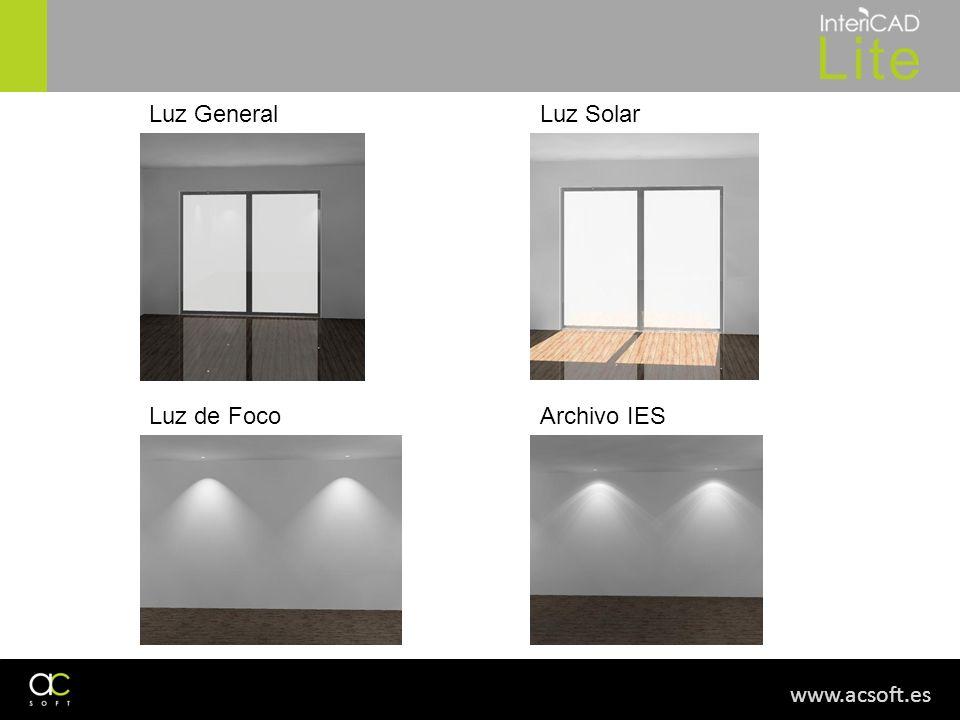 www.acsoft.es Luz GeneralLuz Solar Luz de FocoArchivo IES