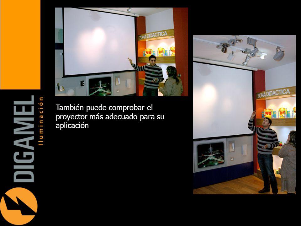 También puede comprobar el proyector más adecuado para su aplicación