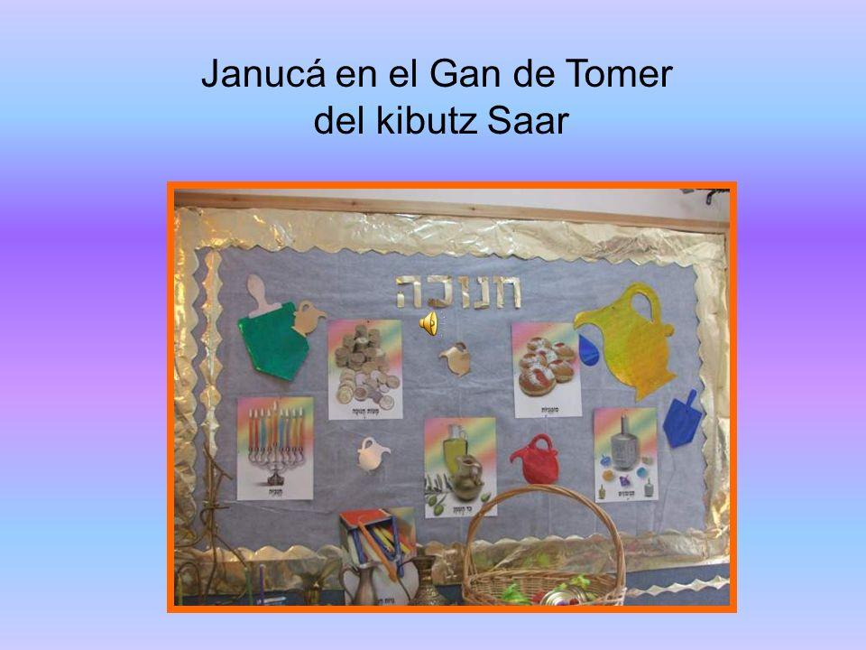 Janucá en el Gan de Tomer del kibutz Saar