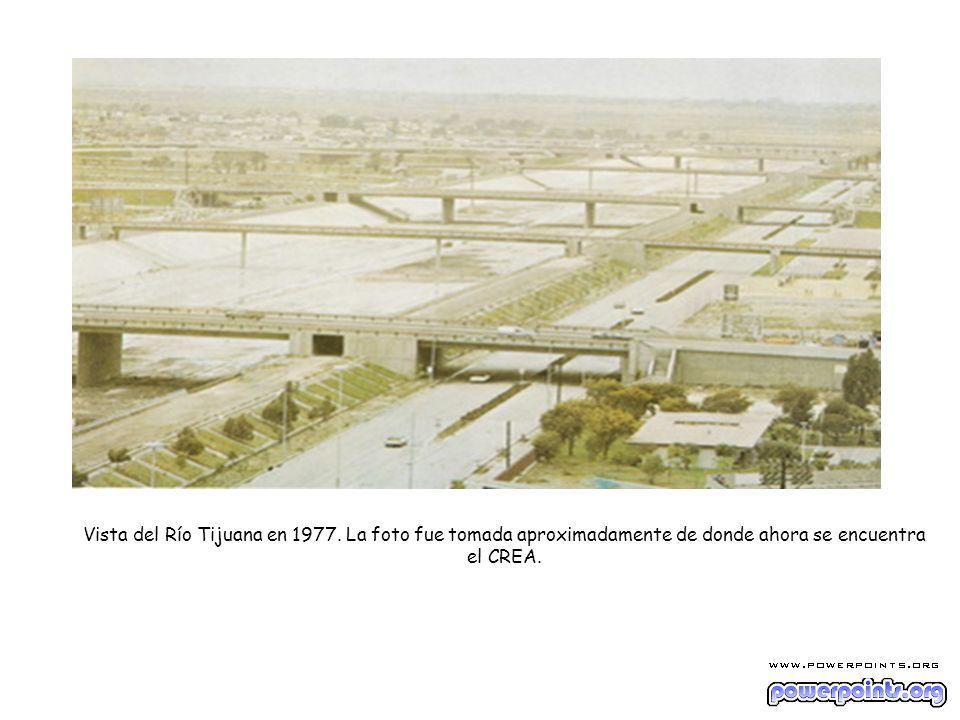 Vista del Río Tijuana en 1977. La foto fue tomada aproximadamente de donde ahora se encuentra el CREA.