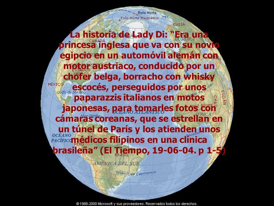 LO GLOBAL Lo global- Lo globalLO GLOBAL La historia de Lady Di: Era una princesa inglesa que va con su novio egipcio en un automóvil alemán con motor