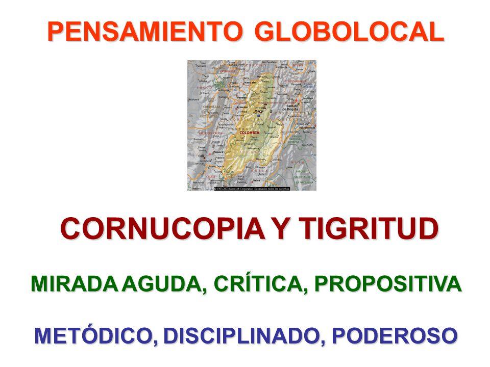 PENSAMIENTO GLOBOLOCAL CORNUCOPIA Y TIGRITUD MIRADA AGUDA, CRÍTICA, PROPOSITIVA METÓDICO, DISCIPLINADO, PODEROSO