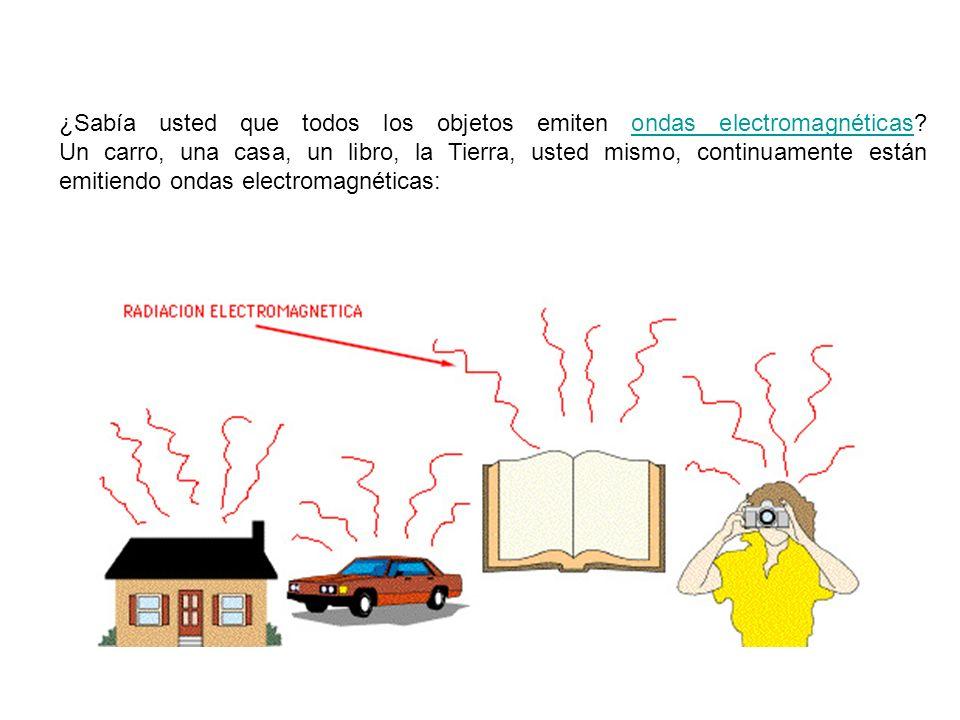 ¿Sabía usted que todos los objetos emiten ondas electromagnéticas? Un carro, una casa, un libro, la Tierra, usted mismo, continuamente están emitiendo