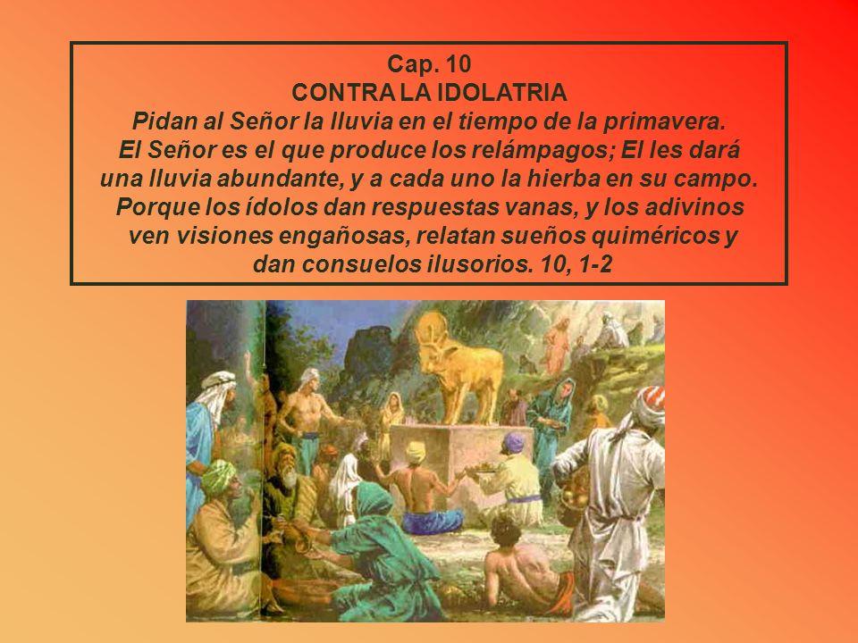 LA LIBERACION DE LOS CAUTIVOS El Señor, su Dios, los salvará en aquel día, como al rebaño de su pueblo; como piedras de una diadema, resplandecerán so
