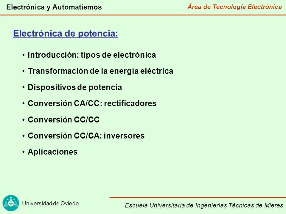 Área de Tecnología Electrónica Universidad de Oviedo Electrónica y Automatismos Escuela Universitaria de Ingenierías Técnicas de Mieres Electrónica de comunicacione s Tipos de electrónica (I) Electrónica Analógica