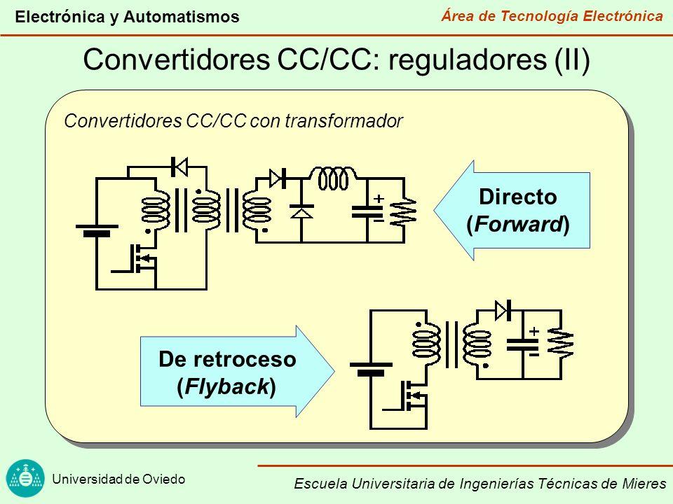 Área de Tecnología Electrónica Universidad de Oviedo Electrónica y Automatismos Escuela Universitaria de Ingenierías Técnicas de Mieres Convertidores CC/CA: inversores (I) Inversor de onda cuadrada en medio puente Alterna