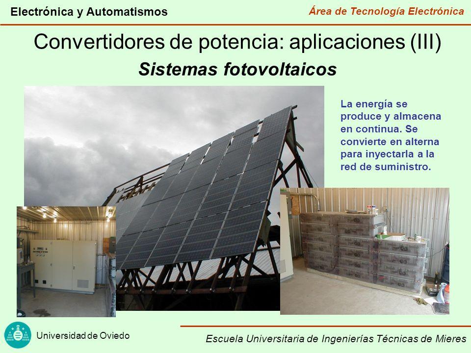 Área de Tecnología Electrónica Universidad de Oviedo Electrónica y Automatismos Escuela Universitaria de Ingenierías Técnicas de Mieres Convertidores de potencia: aplicaciones (IV) Precipitadores electrostáticos Se hace pasar los humos a través de un campo eléctrico intenso.