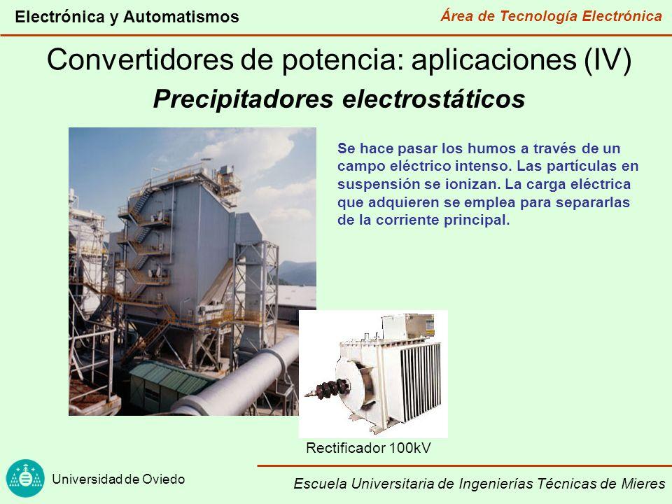 Área de Tecnología Electrónica Universidad de Oviedo Electrónica y Automatismos Escuela Universitaria de Ingenierías Técnicas de Mieres Convertidores