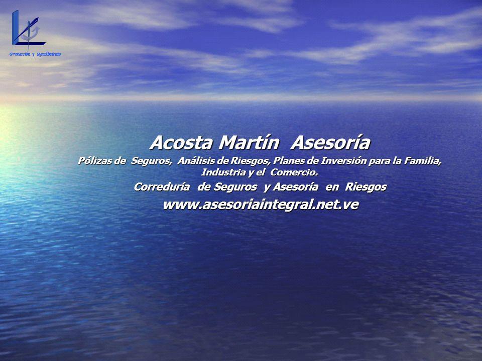Acosta Martín Asesoría Pólizas de Seguros, Análisis de Riesgos, Planes de Inversión para la Familia, Industria y el Comercio. Correduría de Seguros y